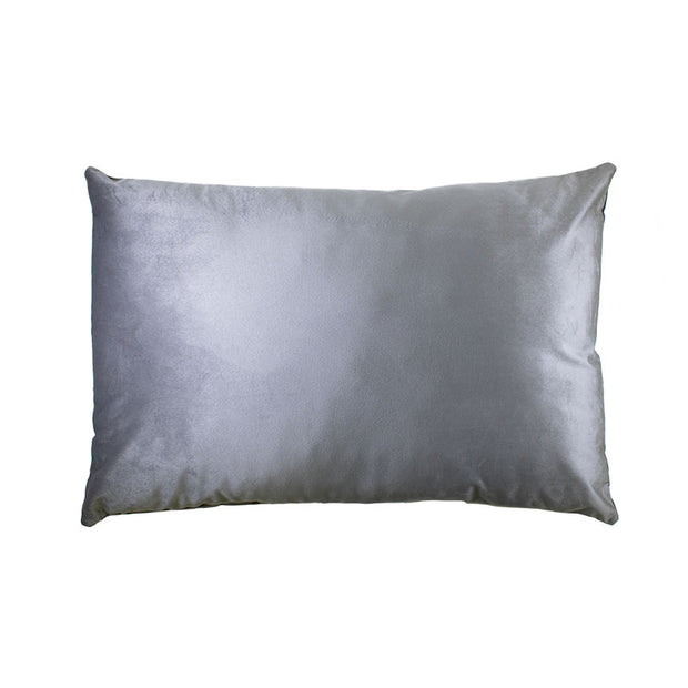 Lumbar Grey Velvet Pillow