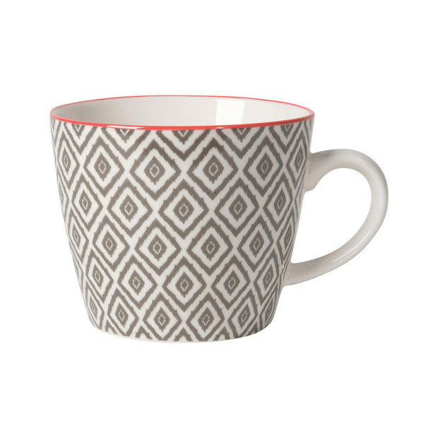 Gray Diamonds Coffee Mug