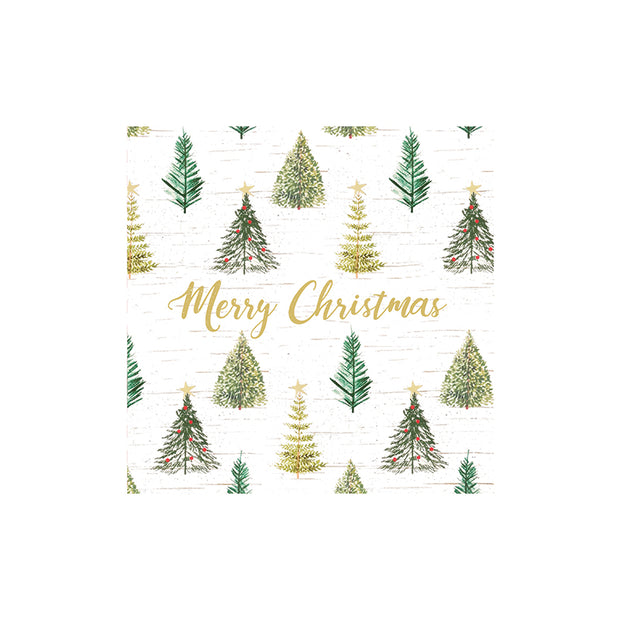 Christmas Tree Cocktail Napkins - Set of 20