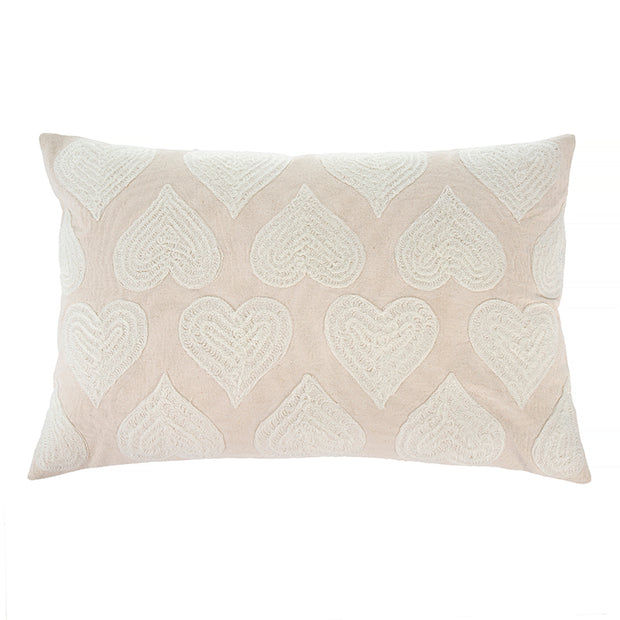 Light Pink Heartbeat Pillow