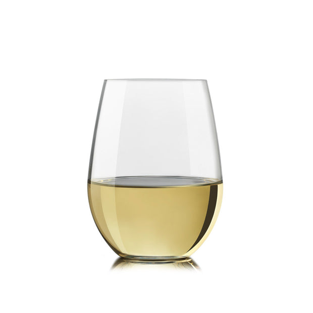 Exquisite Stemless White Wine Glasses - Set of 4