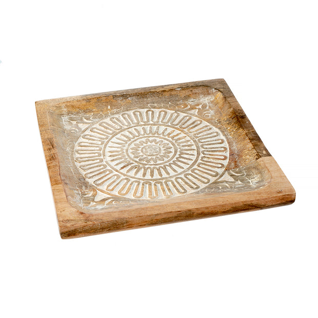 Mandala Large Wooden Tray