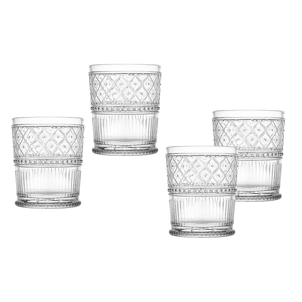 Claro Double Old-Fashioned Drinking Glasses - Set of 4