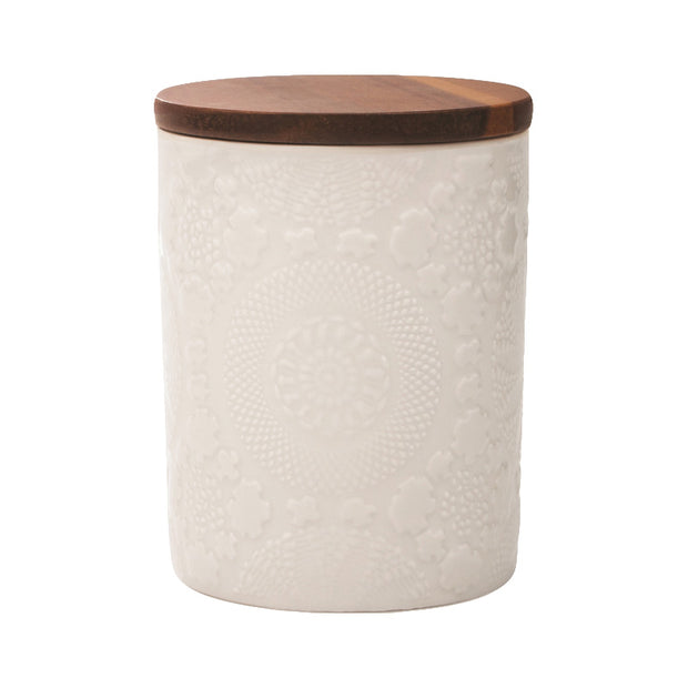 Embossed Large Canister