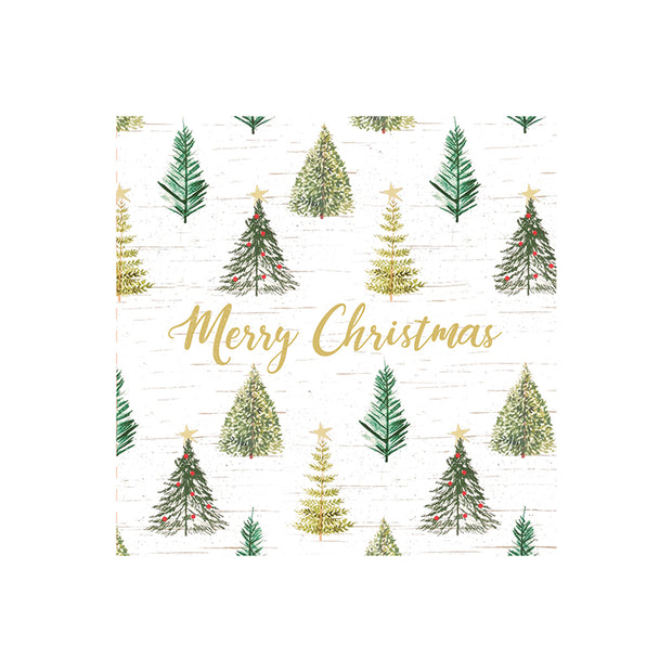 Christmas Tree Luncheon Napkins - Set of 20