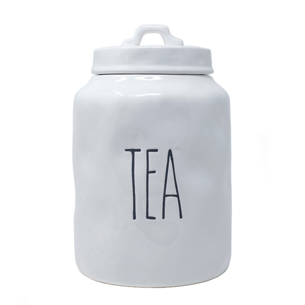 Tall Words Tea Canister