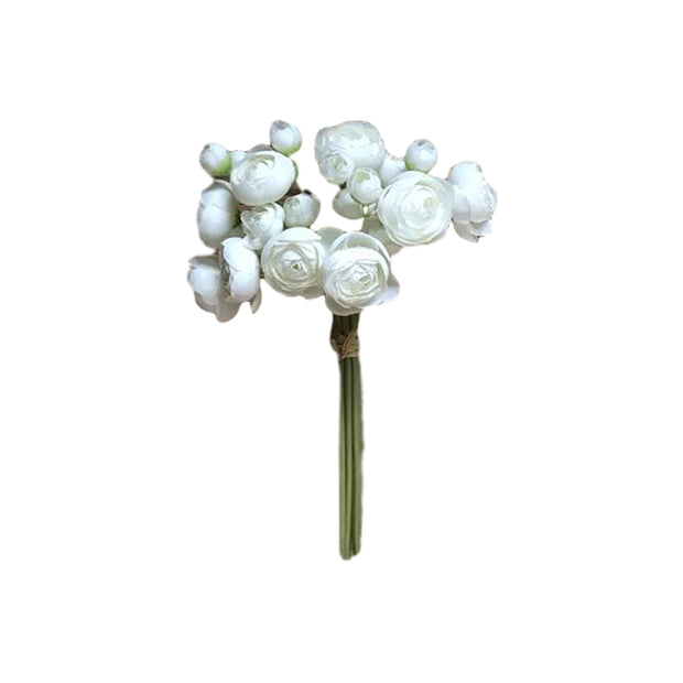 Faux White Flower Bundle
