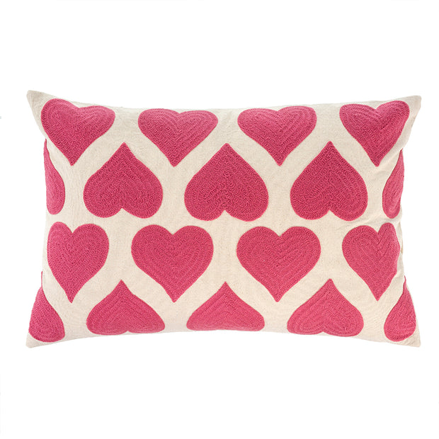 Pink Heartbeat Pillow