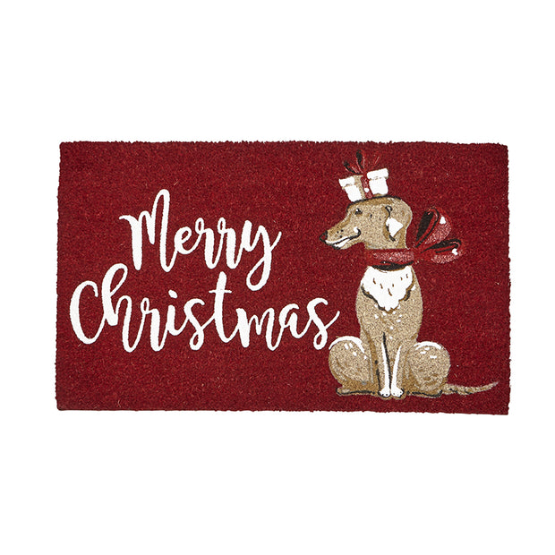 Merry Christmas Dog Door Mat