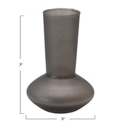 Paris Frosted Black Glass Vase