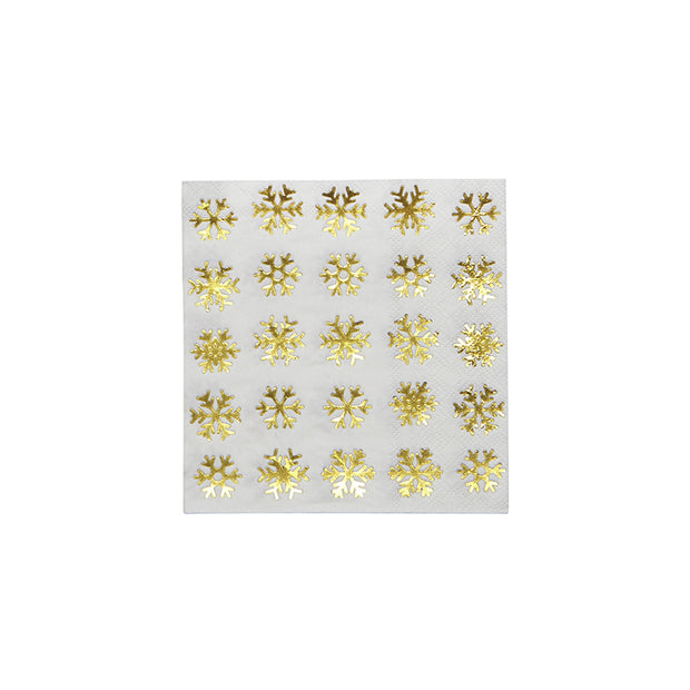 Holiday Snowflake Cocktail Napkins - Set of 20