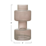 Lenon Milky Grey Glass Vase