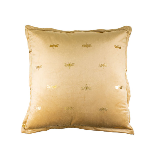 Dragonfly Gold Foil Pillow