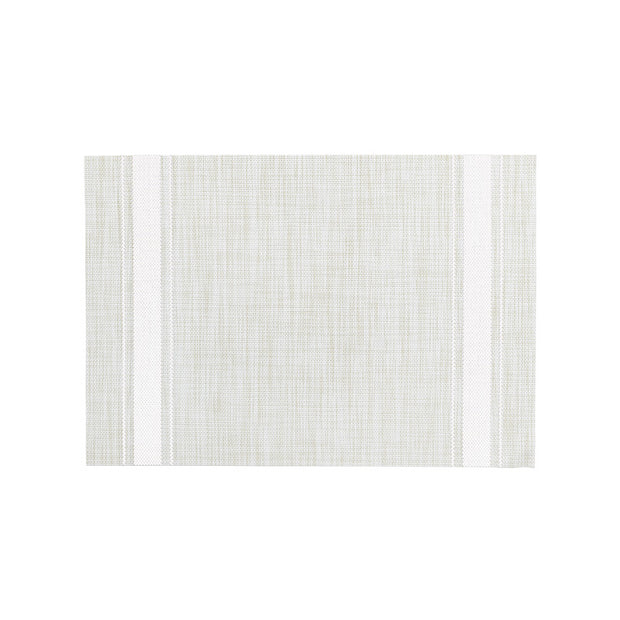 White Bistro Stripe Placemat