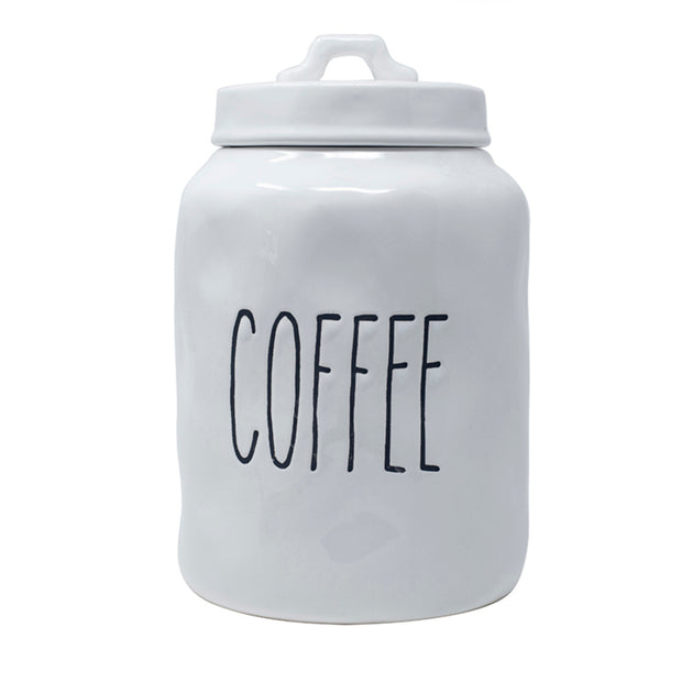 Tall Words Coffee Canister
