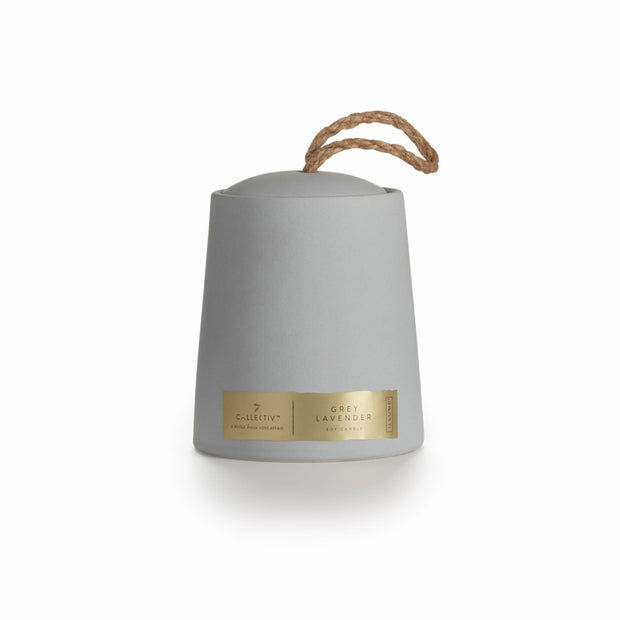 Grey Lavender Oliver Ceramic Candle