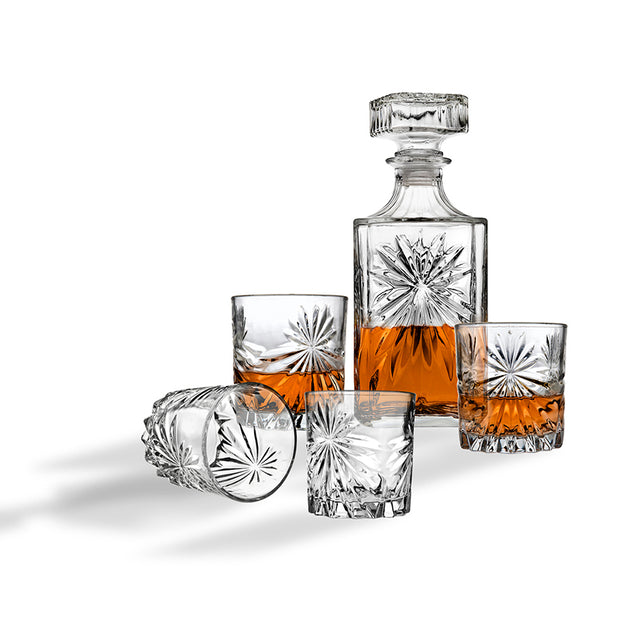5-Piece Starburst Whiskey Set