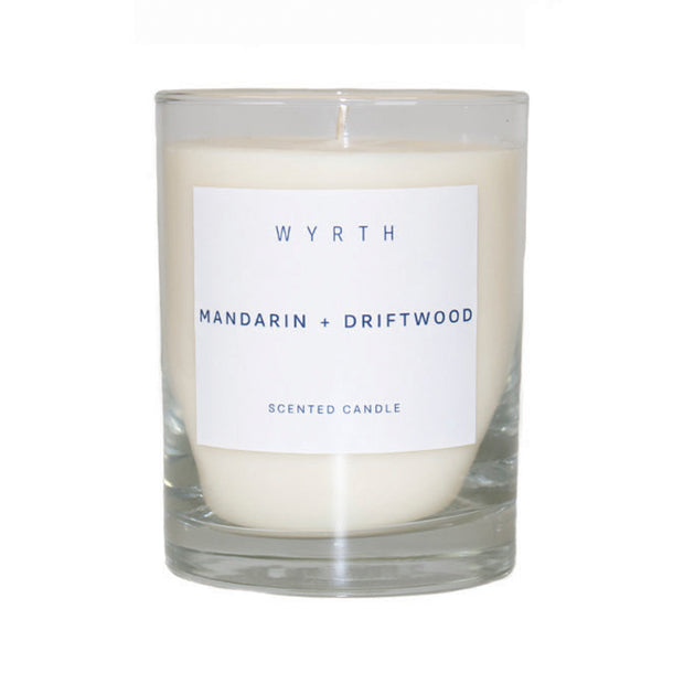 Wyrth Mandarin and Driftwood Candle