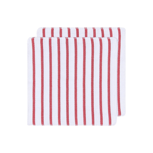 Basketweave Red Dish Towels - Set of 2