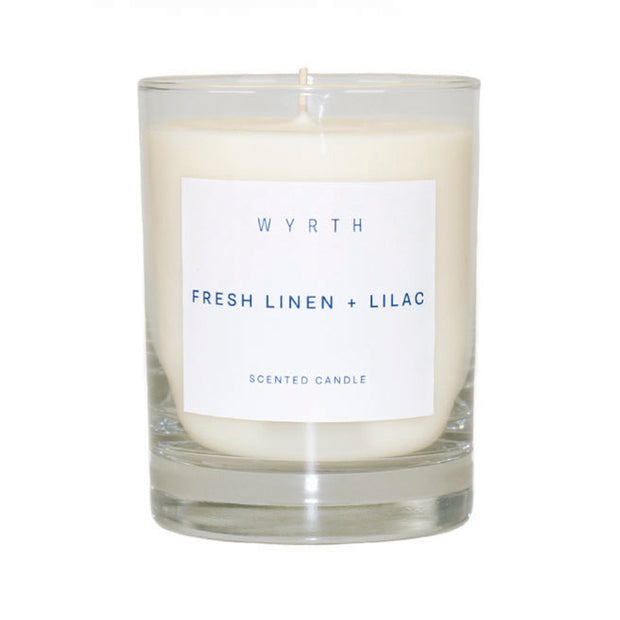 Wyrth Fresh Linen and Lilac Candle