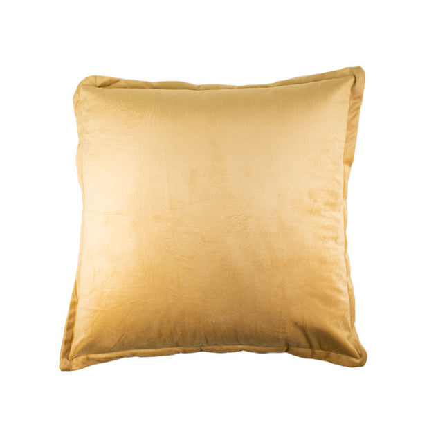 Flanged Gold Velvet Pillow