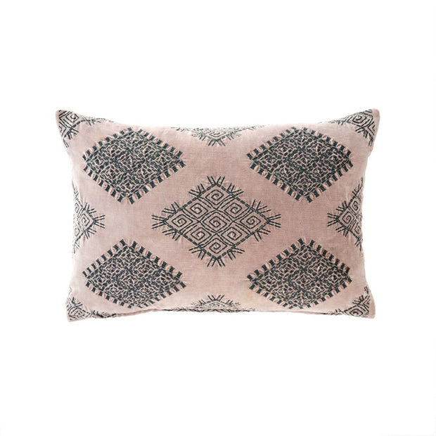 Blush Vivi Velvet Pillow