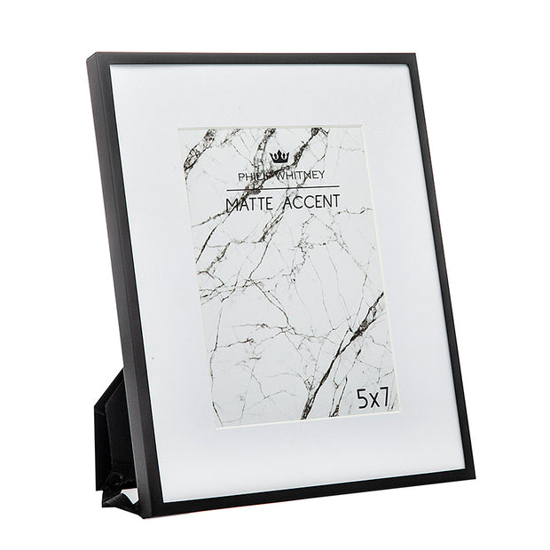 5x7 Thin Matte Black Picture Frame