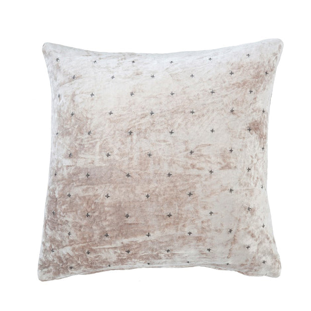 Champagne Velvet Cross Pillow
