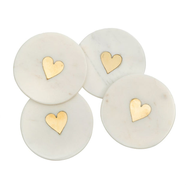 Sweet Heart Coasters - Set of 4