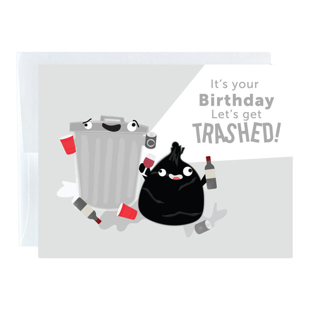 Trashed Birthday Card