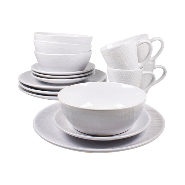 16-Piece Burlap Dinnerware Set