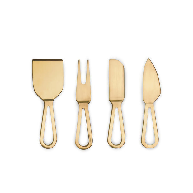 Gold Cheese Knives - Set of 4