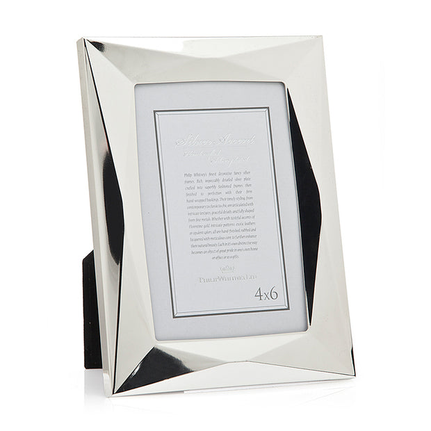 4x6 Geometric Silver Picture Frame