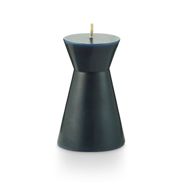 Small Indigo Geo Pillar Candle