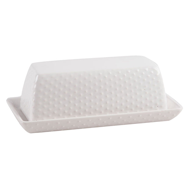 Dot Embossed Covered Butter Dish