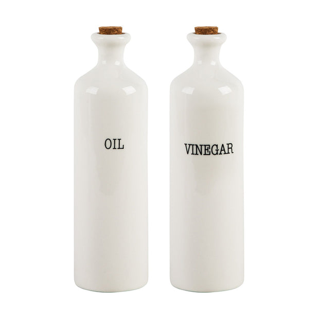 Sentiment Oil and Vinegar Bottles - Set of 2