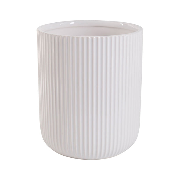 Stripe Embossed Utensil Holder
