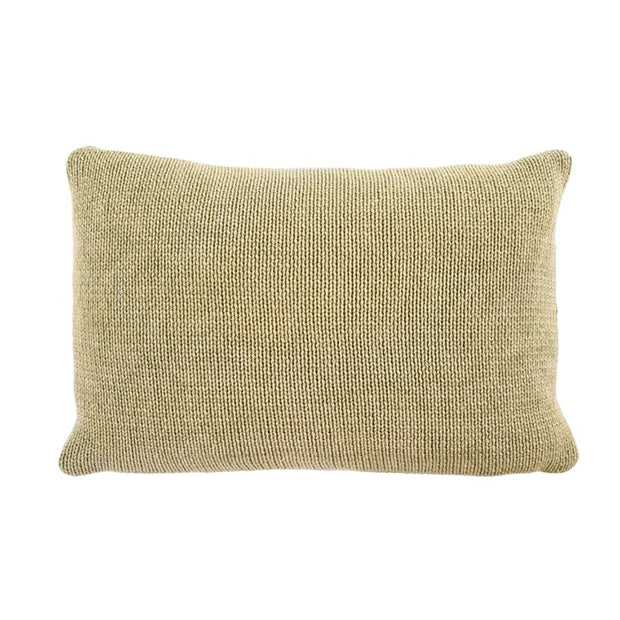 Cotton Knit Green Pillow