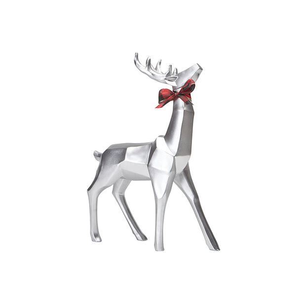 Small Geometric Standing Reindeer