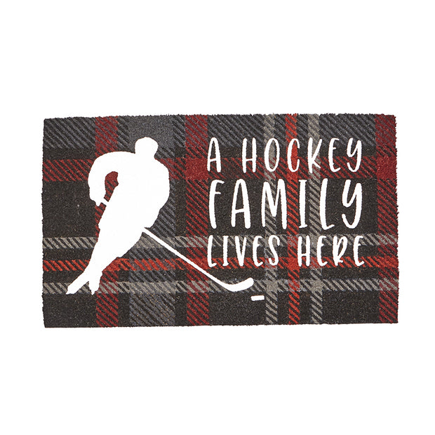 Hockey Family Door Mat