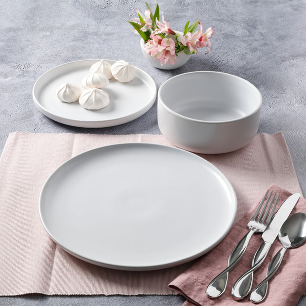 12-Piece Stone Lava Dinnerware Set