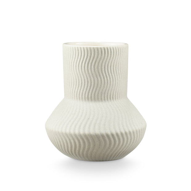 Palo Santo Rippled Ceramic Candle