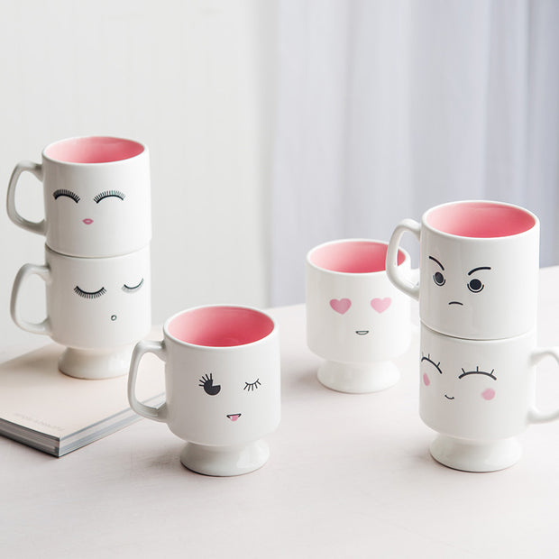 Pink Heart Eyes Emoji Coffee Mug