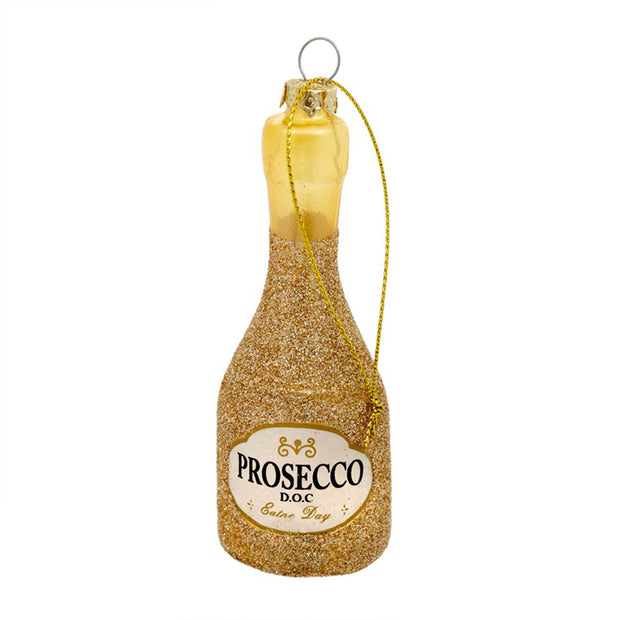 Prosecco Party Gold Ornament