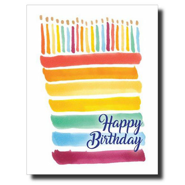 Rainbow Stripe Birthday Card