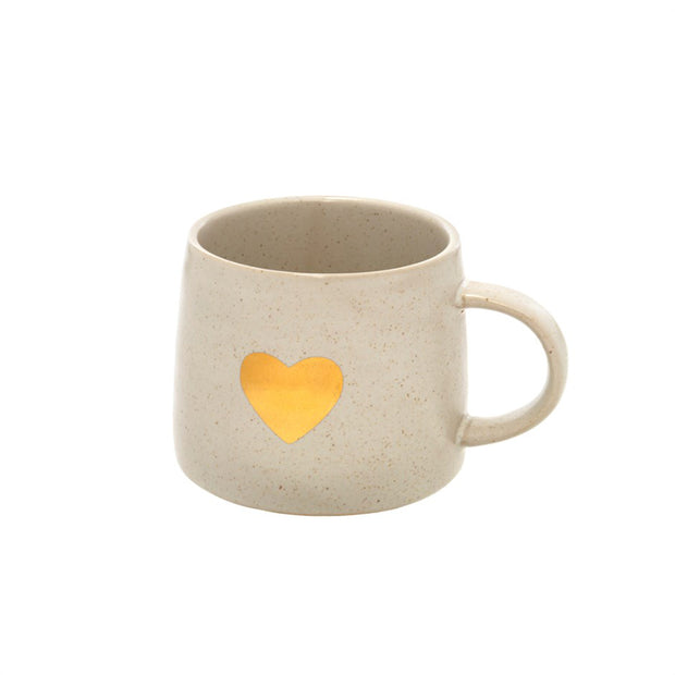 Gold Heart Coffee Mug