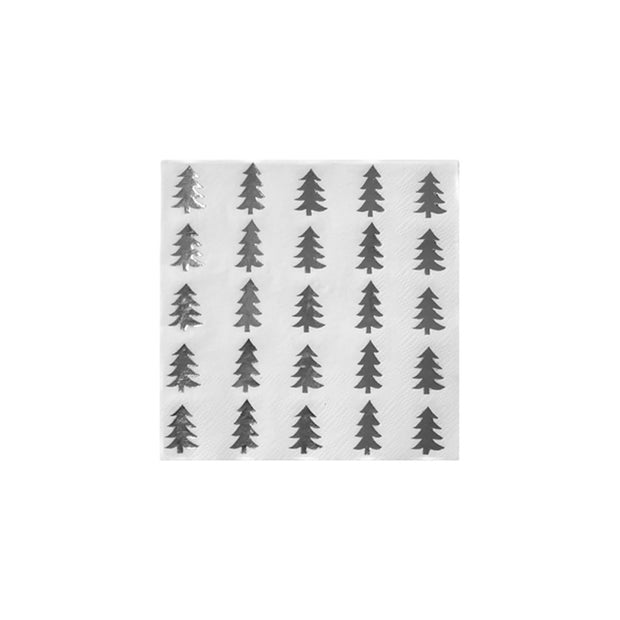 Holiday Christmas Tree Cocktail Napkins - Set of 20