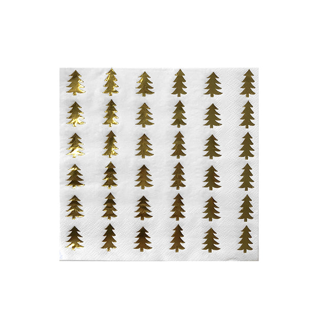 Holiday Christmas Tree Luncheon Napkins - Set of 20