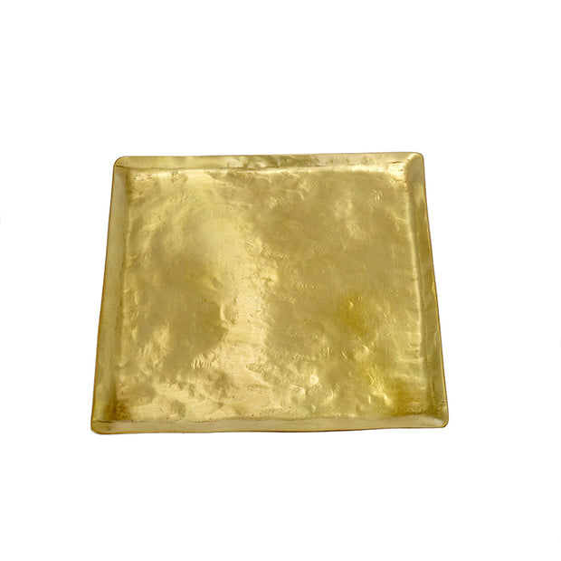 Hammered Square Brass Tray