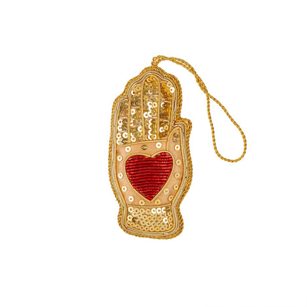 Heart in Hand Plush Ornament
